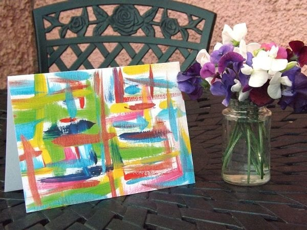 Abstract Greetings Card