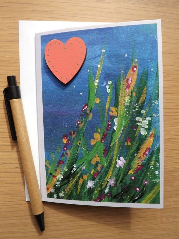Bamburgh with optional personalised heart