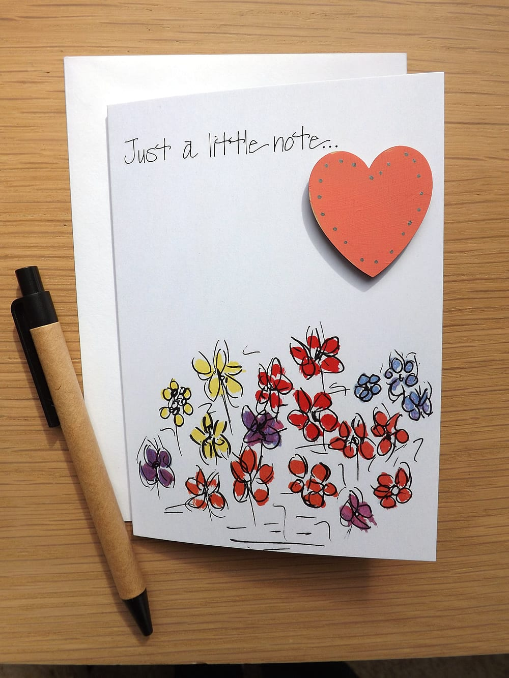 Just a Little Note with personalised Heart
